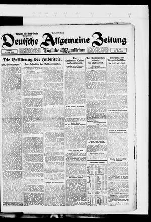 Deutsche allgemeine Zeitung vom 29.05.1923