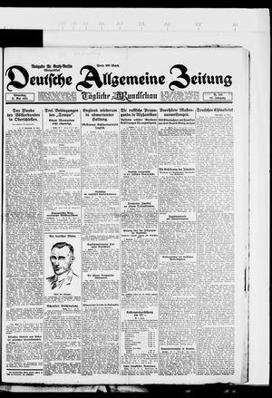 Deutsche allgemeine Zeitung vom 31.05.1923