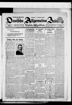Deutsche allgemeine Zeitung vom 01.01.1924