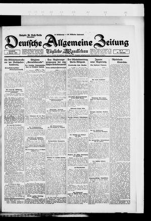 Deutsche allgemeine Zeitung vom 05.01.1924