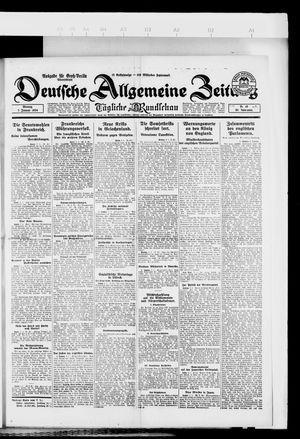 Deutsche allgemeine Zeitung vom 07.01.1924