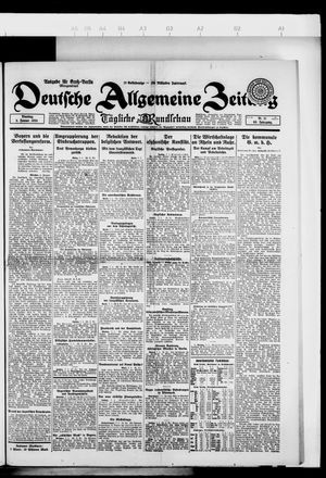 Deutsche allgemeine Zeitung on Jan 8, 1924