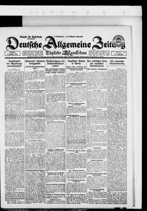 Deutsche allgemeine Zeitung vom 09.01.1924