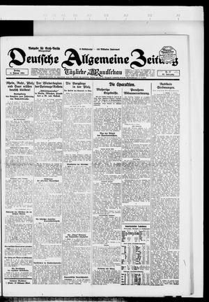 Deutsche allgemeine Zeitung vom 11.01.1924