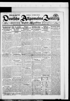 Deutsche allgemeine Zeitung vom 13.01.1924