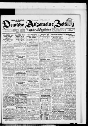 Deutsche allgemeine Zeitung vom 15.01.1924