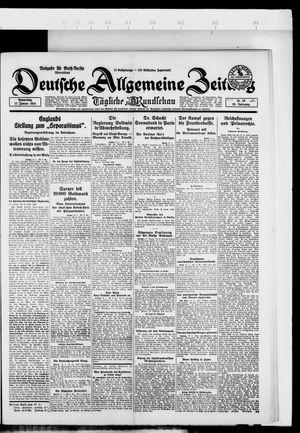 Deutsche allgemeine Zeitung vom 17.01.1924