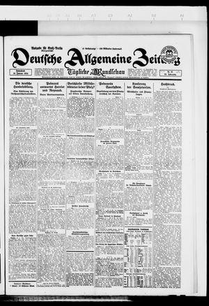 Deutsche allgemeine Zeitung vom 19.01.1924