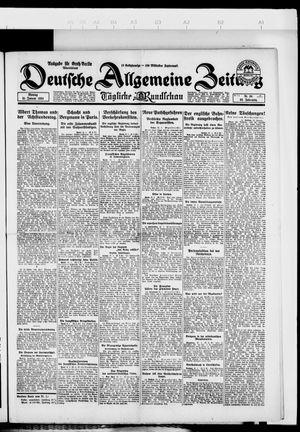 Deutsche allgemeine Zeitung vom 21.01.1924