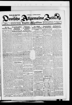 Deutsche allgemeine Zeitung vom 25.01.1924