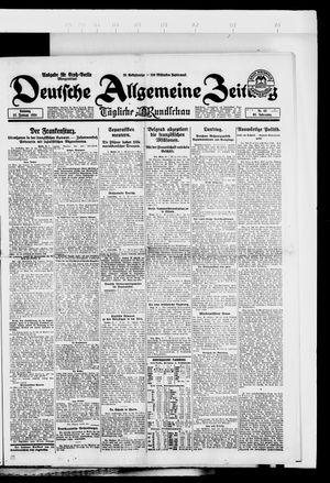 Deutsche allgemeine Zeitung vom 27.01.1924