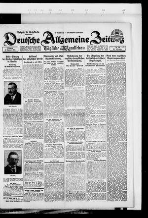 Deutsche allgemeine Zeitung vom 30.01.1924