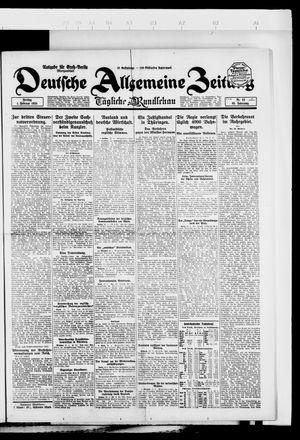 Deutsche allgemeine Zeitung vom 01.02.1924