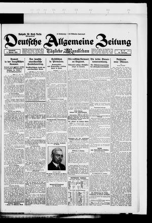 Deutsche allgemeine Zeitung vom 09.02.1924