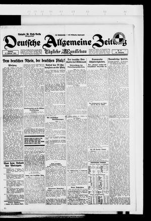 Deutsche allgemeine Zeitung vom 17.02.1924