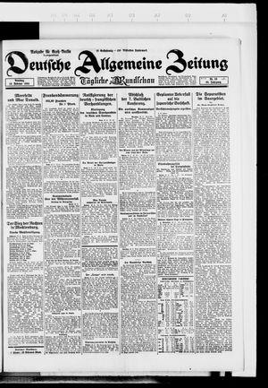 Deutsche allgemeine Zeitung vom 19.02.1924