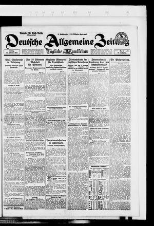 Deutsche allgemeine Zeitung vom 22.02.1924