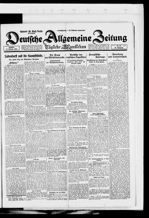 Deutsche allgemeine Zeitung vom 27.02.1924