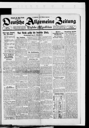 Deutsche allgemeine Zeitung vom 02.03.1924