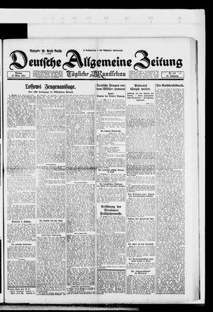 Deutsche allgemeine Zeitung vom 10.03.1924