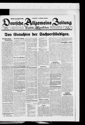 Deutsche allgemeine Zeitung vom 09.04.1924