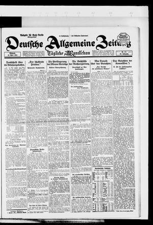 Deutsche allgemeine Zeitung vom 16.04.1924