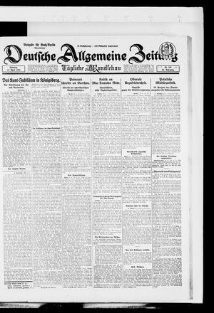 Deutsche allgemeine Zeitung vom 22.04.1924