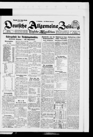 Deutsche allgemeine Zeitung vom 06.05.1924