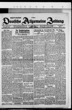 Deutsche allgemeine Zeitung vom 02.01.1926