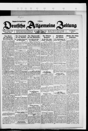 Deutsche allgemeine Zeitung vom 05.01.1926
