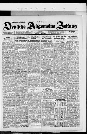 Deutsche allgemeine Zeitung vom 08.01.1926