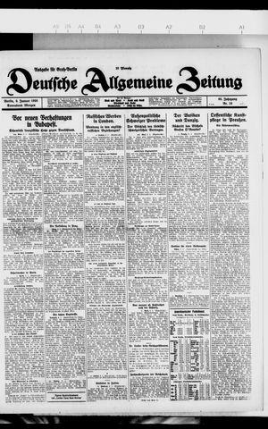 Deutsche allgemeine Zeitung vom 09.01.1926