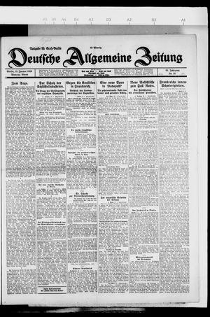 Deutsche allgemeine Zeitung vom 12.01.1926