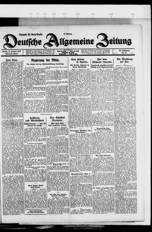 Deutsche allgemeine Zeitung vom 13.01.1926