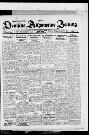 Deutsche allgemeine Zeitung vom 14.01.1926