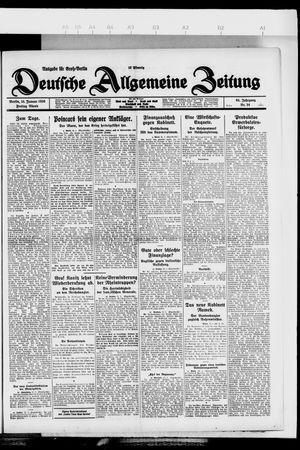 Deutsche allgemeine Zeitung vom 15.01.1926