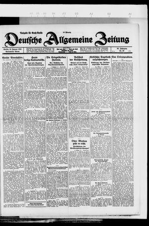 Deutsche allgemeine Zeitung on Jan 16, 1926