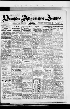 Deutsche allgemeine Zeitung vom 17.01.1926