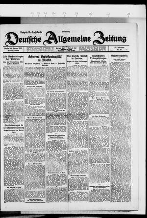 Deutsche allgemeine Zeitung vom 18.01.1926