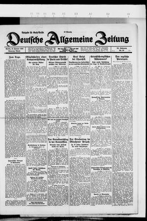 Deutsche allgemeine Zeitung vom 19.01.1926