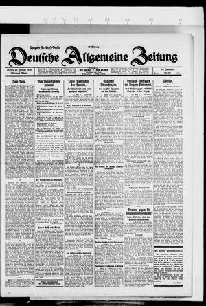 Deutsche allgemeine Zeitung vom 20.01.1926
