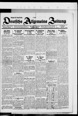 Deutsche allgemeine Zeitung vom 21.01.1926