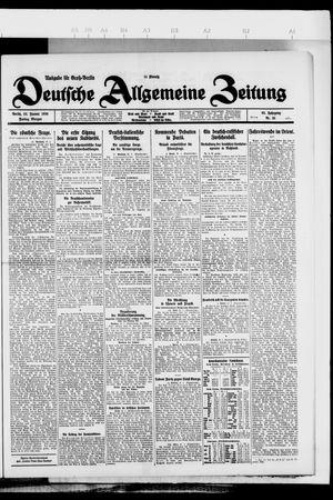Deutsche allgemeine Zeitung vom 22.01.1926