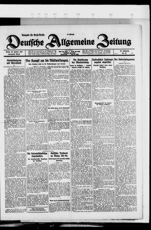 Deutsche allgemeine Zeitung vom 23.01.1926