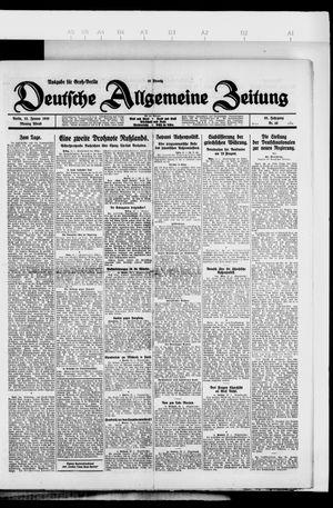 Deutsche allgemeine Zeitung vom 25.01.1926