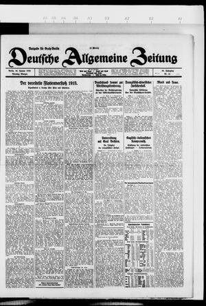 Deutsche allgemeine Zeitung vom 26.01.1926