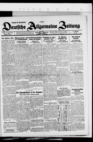Deutsche allgemeine Zeitung vom 27.01.1926