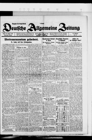 Deutsche allgemeine Zeitung vom 28.01.1926