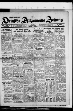 Deutsche allgemeine Zeitung on Jan 31, 1926