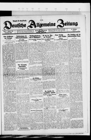 Deutsche allgemeine Zeitung vom 04.02.1926